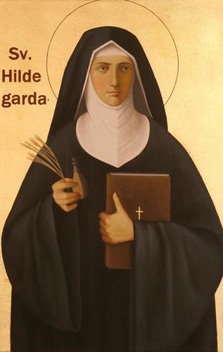 sveta Hildegarda iz Bingna - redovnica in cerkvena učiteljica